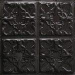 Textured Black Satin